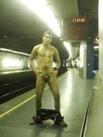 Underground Public Nudity by Goldpeace