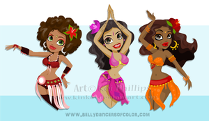 Belly dancers by kinkei