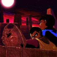 Nightwing and Robin by KaylaBeeMarie