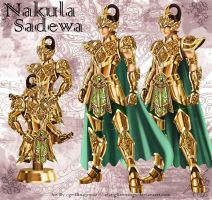 The Golden Armor of Nakula and Sadewa by elangkarosingo