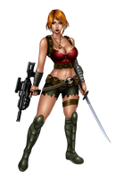 Zombie Slayer Slots Character 1 by johnbecaro