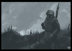 Trenched soldier by noceur