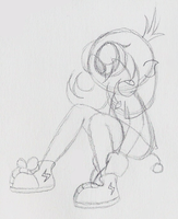 Tying Her Shoes by PuccaFanGirl