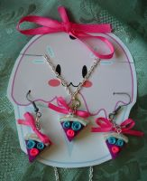Mini Cake Jewelry Set by ButterflyInDisguise