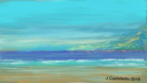 Sand and Surf  by Guseppi