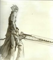 Cloud With His Sword by Cloudberg