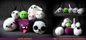 Chamallow pile !! Handmade plushies by Peluchiere