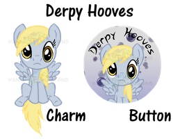 DerpyHooves_Button_Charm by wanabiEPICdesigns