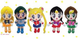 GE Animation Sailor Moon Plushies by SailorSamara