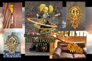 Rin Kagamine Metldown Guitar Commission by witchofNABI