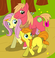 fluttershy and big mac and there daughter by PinkiePie2018