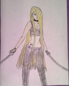 christine with katanas by Christine317