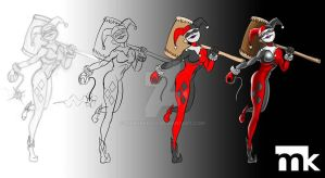 Harley-Quinn---Process by markpkelly