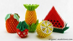 Modular Origami Fruits by origamimodulowe