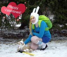 Happy Valentines from Fionna and Cake by MishaCosplay
