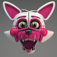 Funtime Foxy Head Render! by Qutiix