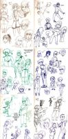 Sketches September '14 by Frey-ofthe-Arcane