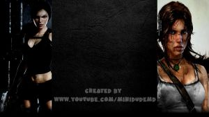 Tomb Raider Old/New  - YouTube Background by MiniDudeMD