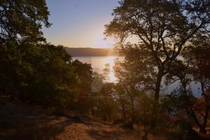 Sunrise at Clear Lake, CA by ChaosWolfPictures