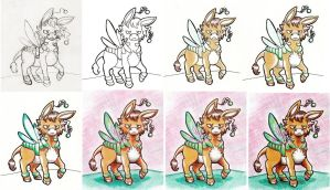 Some boring colored pencil step by step by Wollfisch