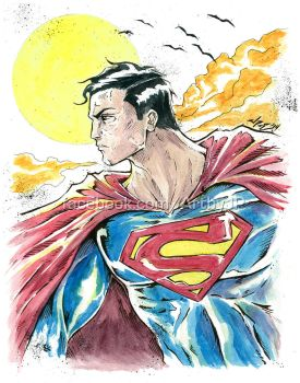 Superman - watercolor set by jpzilla