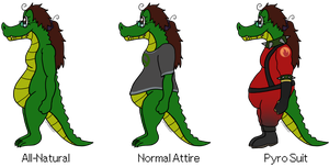Chupi/Ruski the Crocogator -- Outfit Profiles by Spychedelic