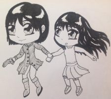 Time Guard- A.I. and Alice Chibis by SmuggleMuffin