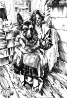 My mom and my dog by asahikawa-arashi