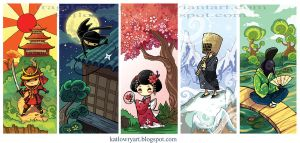 Japan Bookmarks by FragileWhispers