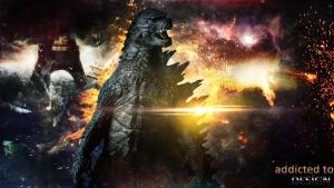 Godzilla Wallpaper by AddictedToDesign
