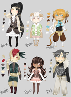 Adopts::Chinese Zodiac part 2 CLOSED by Pandastrophic