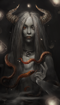 Snake Enchantress by telthona
