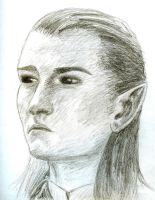 A Quick Legolas Sketch by songsparrow882