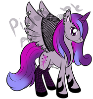 Purple Punky Piercing Pony Point Auction - Closed by Piyos-Adoptables