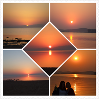 Sunset collage 1 by Laura-in-china