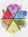 Mythical Creature color wheel by lordmuu