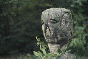 Wooden head by The-Underwriter