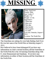 Jack Frost MISSING *Edit* by Zimandjess