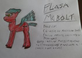 Flash McBolt M.L.P OC by McMufinman