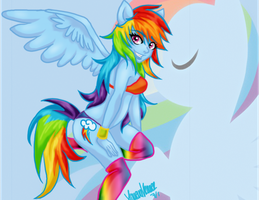 Rainbow Dash by xMetalKitty