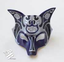 Custom Ornate Fox Leather Mask by b3designsllc