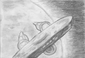 Daily Sketch Challenge - USS Enterprise by crittercat