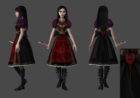 Queen of Hearts wip by tombraider4ever