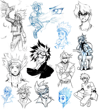 Sketches 090715 by SailorAnime
