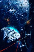 Attack on the Death Star by iartbilly