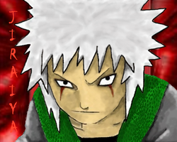 Young Jiraiya Shaded by KakashisFallenAngel
