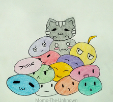 Mochi Pile by Momo-The-Unknown