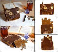 Steampunk bag with bullets by izasartshop