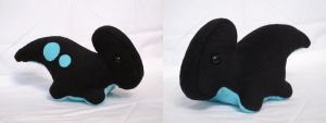 Black and Blue Parasaurolophus Plush by MowenDesigns
