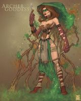 Archer Goddess by daveswartzart